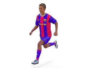 Soccer Player Barcelona Rigged 3D model