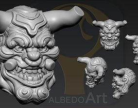 3D print model Oni Yokai Head2