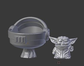 3D printable model Baby alien with hover pod