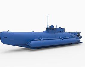 Seehund Midget Submarines 3D printable model