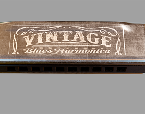3D model vintage Vintage Harmonica