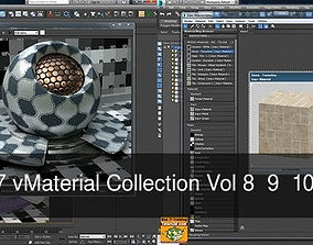 Iray piu 3dsmax 2017 vMaterial Collection Vol 8 9 10 Cd 1