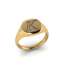 Jewelry Signature Ring 3D printable model wedding