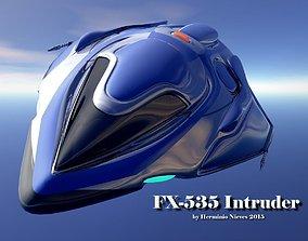 FX-535 Intruder Spacecraft 3D model