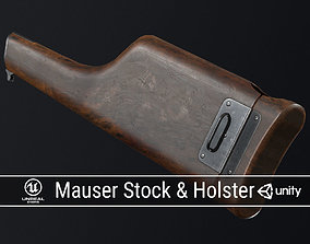 3D model PBR Mauser Stock and Holster