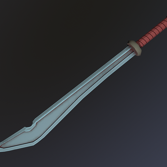 Low Poly Stylized Sword
