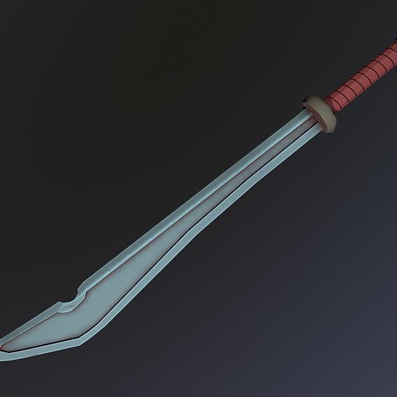 Low Poly Stylized Sword