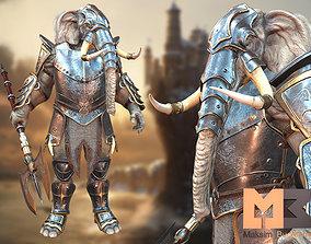 Elephant Warrior 3D asset animated