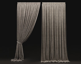 3D model Curtain Biege-8