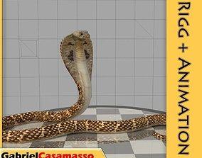 Cobra 3D model animated