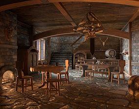 Medieval Interior Set 3D asset