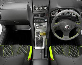 3D Interior of a sports car