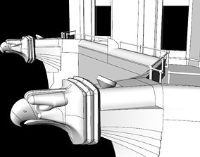 3D model Chrysler Building Eagles