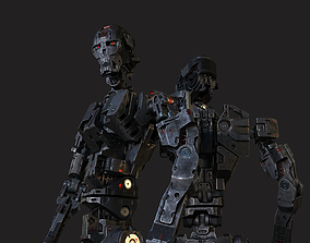 3D Robot soldier SCI-FI
