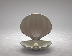 3D model Clamshell with a Pearl
