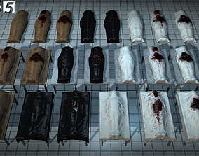 3D asset Body Bags Pack
