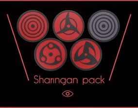 3D model Sharingan bages pack