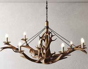 3D model Antler Chandelier