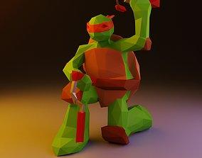 3D asset Michelangelo Low Poly