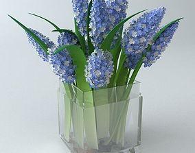 3D model Lilac Bouquet Glass Vase
