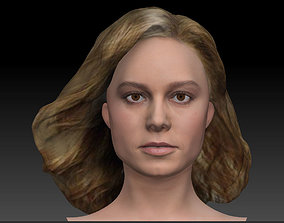 Brie Larson 3d model as Captain Marvel Carol Danvers bust