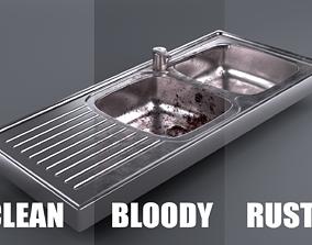 Metallic Sink 3D asset