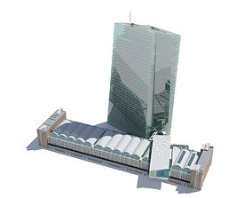 3D model European Central Bank Building