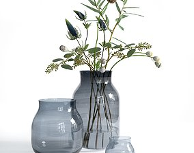 Omaggio Vases with Flowers 3D model