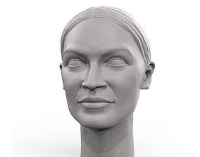 3D printable model Alexandria Ocasio-Cortez portrait