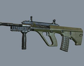 3D asset Steyr Aug Assault Rifle