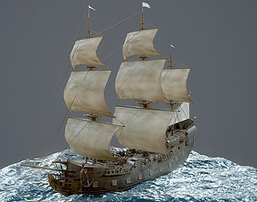 3D asset Sailboat Galleon