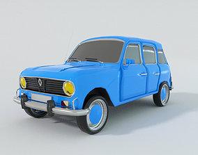 Renault 4 3D model realtime