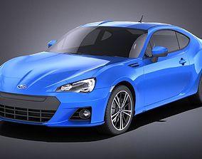 Subaru BRZ 2015 VRAY 3D