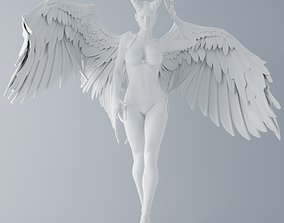 Evil angel walking 3D printable model