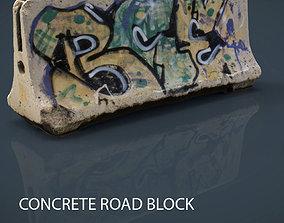 CONCRETE ROAD BLOCK 3D model
