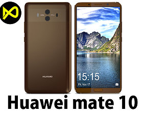 3D Huawei Mate 10 Mocha Brown