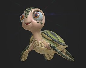 3D model Cartoon Low Poly Turtle