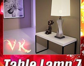 3D Modern Table Lamp 07 Silver