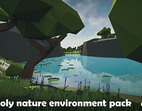Low poly nature environment pack 3D asset