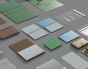 3D asset VR / AR ready Paper Items Set 01