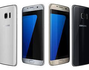 Samsung Galaxy S7 Edge All Colors 3D model