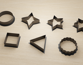 3D printable model Basic Shapes Cookie Cutters