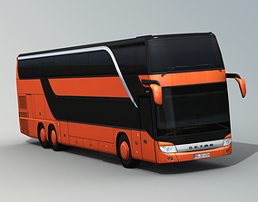 3D asset rigged SETRA S 431 DT Double decker bus