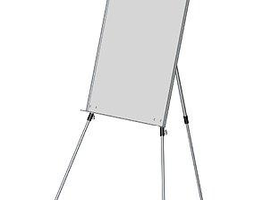 education 3D model Whiteboard