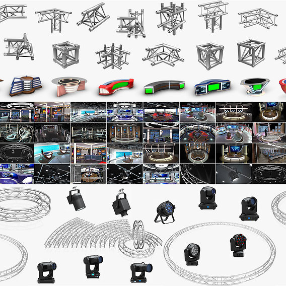 3D Virtual TV Studio Sets