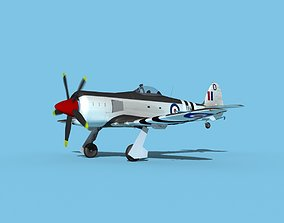 Hawker Sea Fury MKII V05 RN 3D model