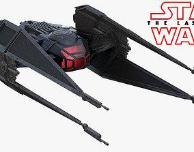 3D Star Wars Kylo Ren TIE silencer