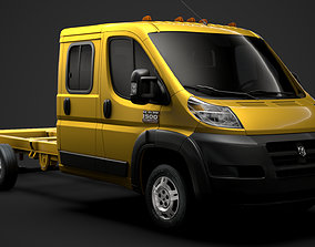 3D Ram Promaster Cargo Chassis Truck Crew Cab 4035XL WB