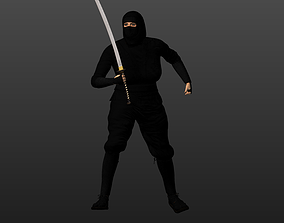 Animated Ninja 3D model