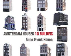 3D model AMSTERDAM HOUSES 13 ANNA FRANK BUILDING